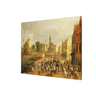 A Port Canvas Print