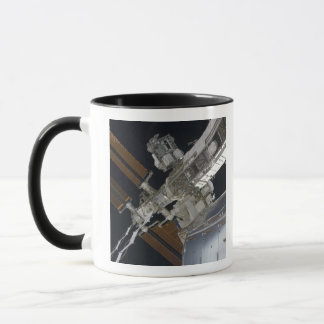 A portion of the International Space Station 3 Mug
