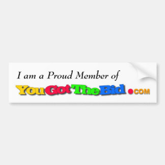 a Proud Member of Car Bumper Sticker