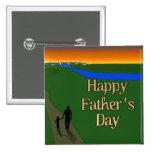 A Quiet Father & Son Walk 15 Cm Square Badge