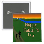 A Quiet Father & Son Walk Button