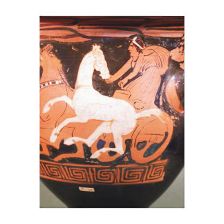 A red-figure bell krater canvas print