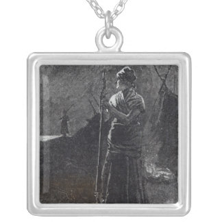 A Red River Colonist, 1878 Silver Plated Necklace