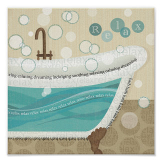 A Relaxing Bath Poster