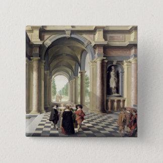 A Renaissance Hall 15 Cm Square Badge