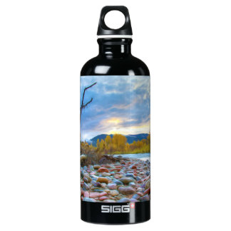 A River With Stones In Autumn Mountains SIGG Traveler 0.6L Water Bottle