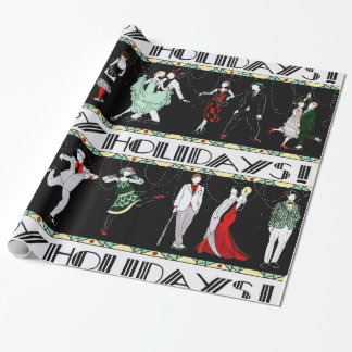 A Roaring 20's Holiday Wrapping Paper