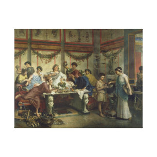 A Roman Feast by Roberto Bompiani Gallery Wrapped Canvas