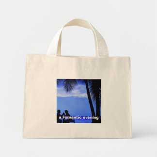 a romantic evening, canvas bag