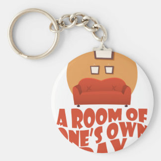 A Room Of One's Own Day - Appreciation Day Basic Round Button Key Ring
