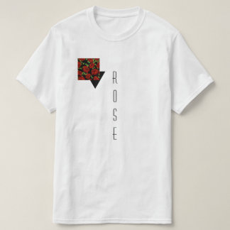 A rose themed white T T-Shirt