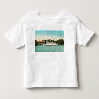 A Sacramento River Scene with a Riverboat Toddler T-Shirt