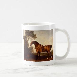 A Saddled Bay Hunter by George Stubbs Coffee Mug