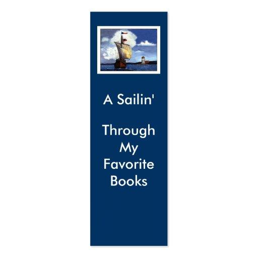 A Sailin', Through My Favorite Books Business Card Template