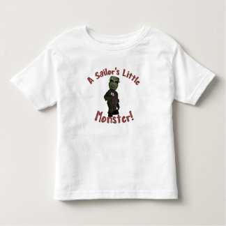 A Sailor's Little Monster Toddler T-Shirt