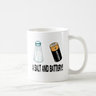 A Salt and Battery! Basic White Mug