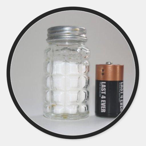 A Salt and Battery Sticker