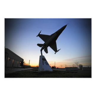 A scale model of an F-16 C Fighting Falcon Photographic Print
