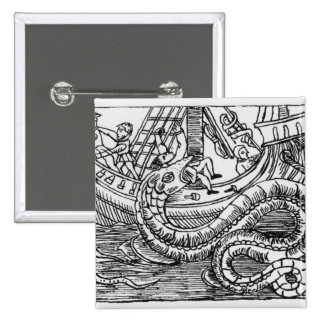 A Sea Serpent 15 Cm Square Badge