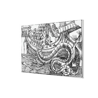 A Sea Serpent Canvas Print