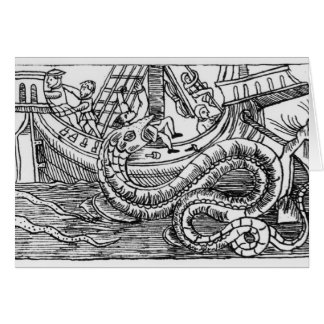A Sea Serpent Greeting Card