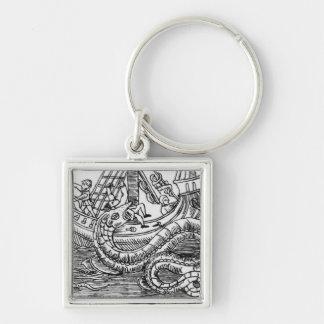 A Sea Serpent Keychain