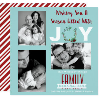 """A Season Filled With Joy"" Personalized Christmas Card"