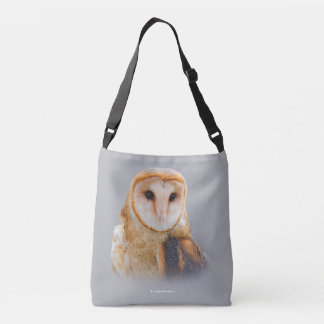 A Serene and Beautiful Barn Owl Crossbody Bag