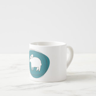 A sheep in ovals espresso cup