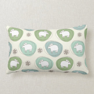 A sheep in ovals lumbar cushion
