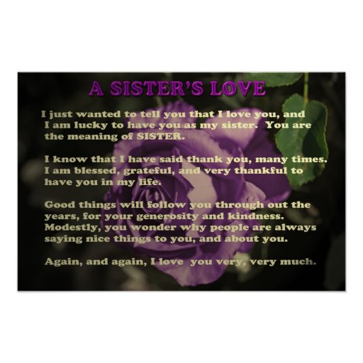 A sister's love - poster