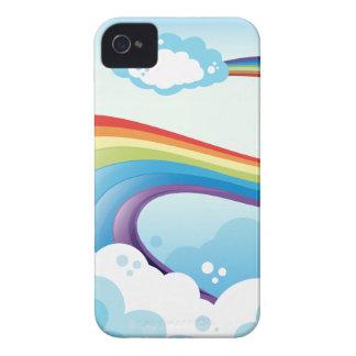 A sky with a rainbow iPhone 4 case