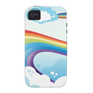 A sky with a rainbow iPhone 4 cases