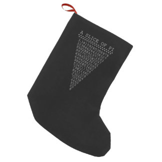 A Slice of Pi Typography Small Christmas Stocking