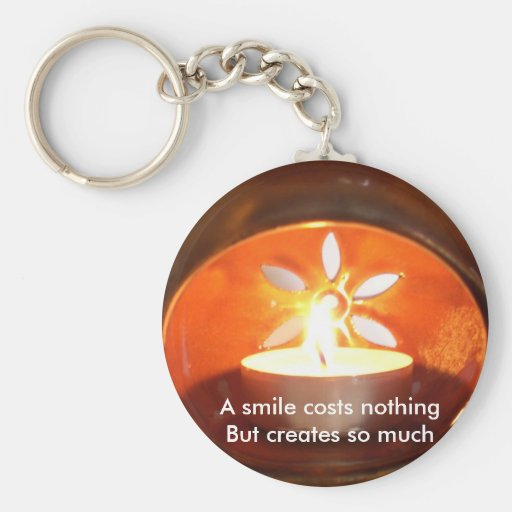 A smile costs nothing keychains