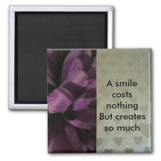 A smile costs nothing fridge magnet