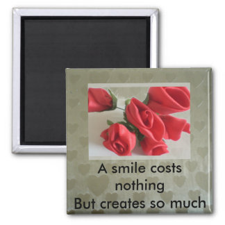 A smile costs nothing refrigerator magnet