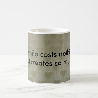 A smile costs nothing coffee mug