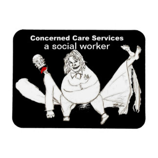A Social Worker fridge magnet