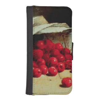 A spilled bag of cherries iPhone SE/5/5s wallet case