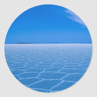 A Spiritual Place -Boliva-Salt-Flats Round Sticker