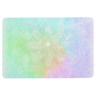 A Splash of Pastel Floor Mat