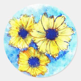 A Splash of Yellow Round Sticker