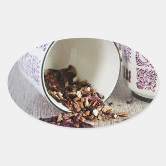 A Spot of Tea Envelope Seal Oval Sticker
