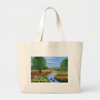 A Spring Stream Large Tote Bag