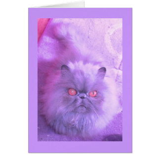 A Study In Lilac Persian Cat Greeting Card