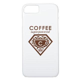 A Supercaffeinated Superhero - Coffee Brown iPhone 7 Case