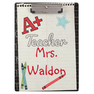 A+ Teacher Personalised Clipboard