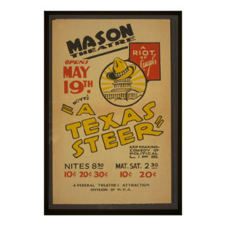 """A Texas Steer"" At The Mason Theater Poster"