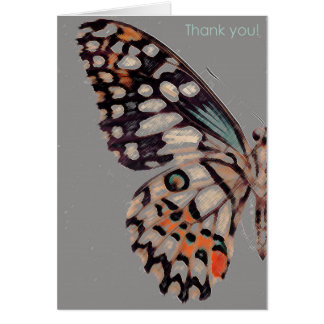 A thank you card with a beautiful butterfly image.